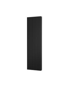 Trade Direct Aphex Aluminium, Designer Radiator, Black, 1600mm x 466mm - Grooved