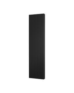 Trade Direct Aphex Aluminium, Designer Radiator, Black, 1800mm x 466mm - Grooved