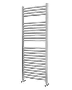 Lazzarini Roma Towel Rail - 25mm, Chrome Curved, 1230x500mm