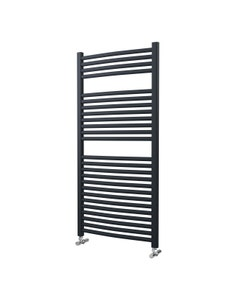 Lazzarini Roma Towel Rail - 25mm, Anthracite Curved, 1230x600mm (Electric)