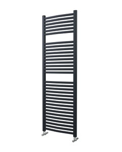 Lazzarini Roma Towel Rail - 25mm, Anthracite Curved, 1512x500mm (Electric)
