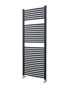 Lazzarini Roma Towel Rail - 25mm, Anthracite Curved, 1512x600mm (Electric)
