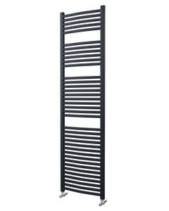 Lazzarini Roma Towel Rail - 25mm, Anthracite Curved, 1785x500mm (Electric)