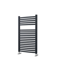Lazzarini Roma Towel Rail - 25mm, Anthracite Curved, 842x500mm (Electric)