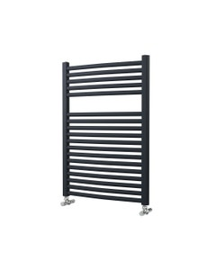 Lazzarini Roma Towel Rail - 25mm, Anthracite Curved, 842x600mm (Electric)