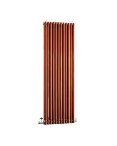 DQ Modus 2 Column Radiator, Copper Lacquer, 1800mm x 530mm