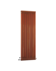 DQ Modus 2 Column Radiator, Copper Lacquer, 1800mm x 300mm