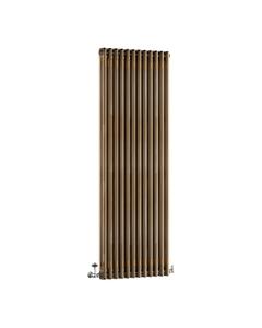 DQ Modus 2 Column Radiator, Brass Lacquer, 1800mm x 392mm