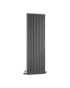 DQ Modus 2 Column Radiator, Black Nickel, 1800mm x 392mm