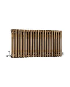 DQ Modus 2 Column Radiator, Brass Lacquer, 500mm x 622mm