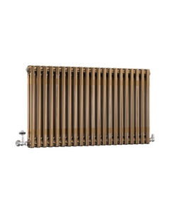 DQ Modus 2 Column Radiator, Brass Lacquer, 600mm x 622mm