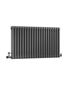 DQ Modus 2 Column Radiator, Black Nickel, 600mm x 806mm