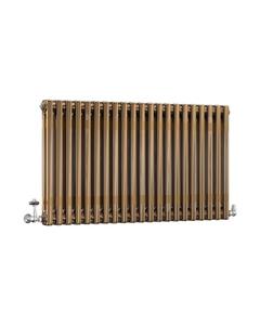 DQ Modus 2 Column Radiator, Brass Lacquer, 600mm x 1404mm