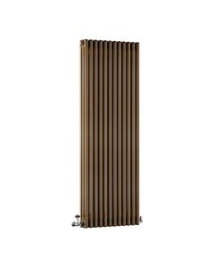 DQ Modus 3 Column Radiator, Brass Lacquer, 1800mm x 530mm
