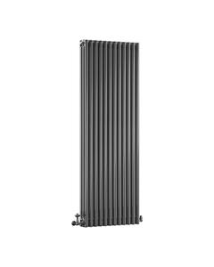DQ Modus 3 Column Radiator, Black Nickel, 1800mm x 530mm