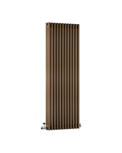 DQ Modus 3 Column Radiator, Brass Lacquer, 1800mm x 300mm