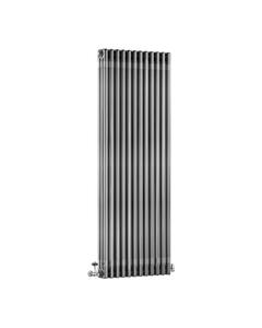 DQ Modus 3 Column Radiator, Bare Metal Lacquer, 1800mm x 300mm