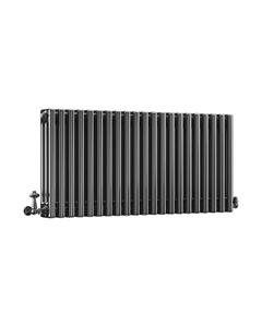 DQ Modus 3 Column Radiator, Black Nickel, 500mm x 622mm