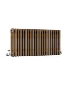 DQ Modus 3 Column Radiator, Brass Lacquer, 500mm x 990mm