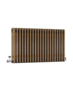 DQ Modus 3 Column Radiator, Brass Lacquer, 600mm x 622mm