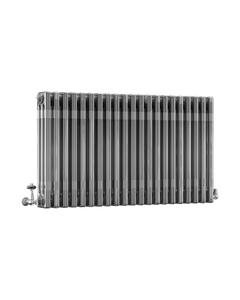 DQ Modus 3 Column Radiator, Bare Metal Lacquer, 600mm x 622mm