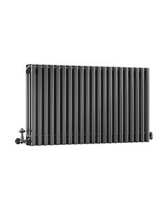 DQ Modus 3 Column Radiator, Black Nickel, 600mm x 806mm