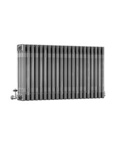 DQ Modus 4 Column Radiator, Bare Metal Lacquer, 600mm x 806mm