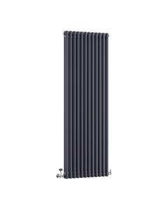 DQ Modus 2 Column Radiator, Anthracite, 1800mm x 392mm