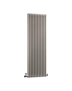DQ Modus 2 Column Radiator, Stone Grey, 1800mm x 392mm