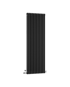 DQ Modus 2 Column Radiator, Matt Black, 1800mm x 392mm