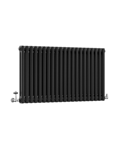 DQ Modus 2 Column Radiator, Matt Black, 600mm x 990mm