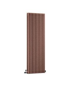 DQ Modus 3 Column Radiator, Historic Copper, 1800mm x 300mm