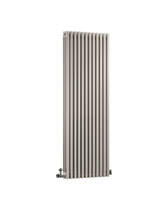 DQ Modus 3 Column Radiator, Stone Grey, 1800mm x 300mm
