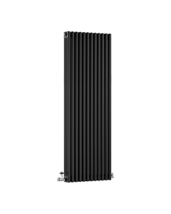 DQ Modus 3 Column Radiator, Matt Black, 1800mm x 300mm