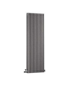 DQ Modus 3 Column Radiator, Historic Silver, 1800mm x 392mm