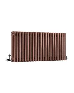 DQ Modus 3 Column Radiator, Historic Copper, 500mm x 622mm