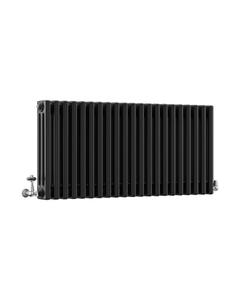 DQ Modus 3 Column Radiator, Matt Black, 500mm x 806mm