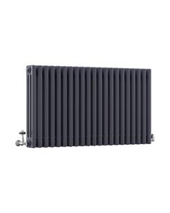 DQ Modus 3 Column Radiator, Anthracite, 600mm x 622mm