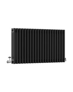 DQ Modus 3 Column Radiator, Matt Black, 600mm x 622mm