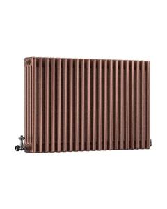 DQ Modus 4 Column Radiator, Historic Copper, 750mm x 806mm