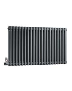 DQ Modus 2 Column Radiator, Anthracite, 600mm x 692mm (Electric)