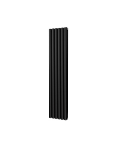 Trade Direct Saturn Designer Radiator, Black, 1600mm x 348mm - Double Panel