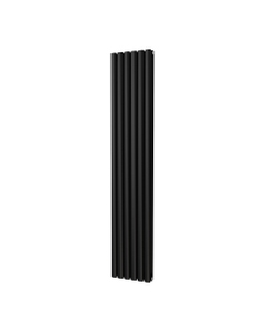 Trade Direct Saturn Designer Radiator, Black, 1800mm x 348mm - Double Panel