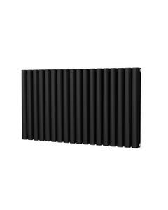 Trade Direct Saturn Designer Radiator, Black, 600mm x 1044mm - Double Panel