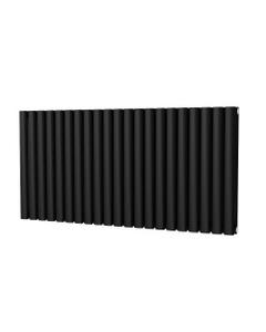 Trade Direct Saturn Designer Radiator, Black, 600mm x 1218mm - Double Panel