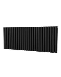 Trade Direct Saturn Designer Radiator, Black, 600mm x 1508mm - Double Panel