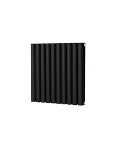 Trade Direct Saturn Designer Radiator, Black, 600mm x 580mm - Double Panel