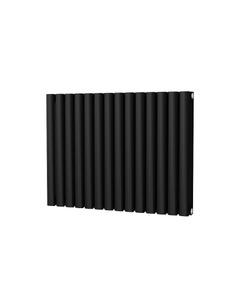 Trade Direct Saturn Designer Radiator, Black, 600mm x 812mm - Double Panel