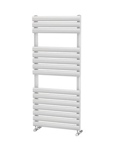 Trade Direct Saturn Bar Towel Rail, White, 1120x500mm