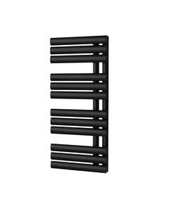 Trade Direct Saturn Triple Towel Rail, Black, 880x500mm